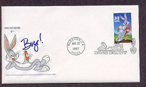 Bugs Bunny Rabbit, Warner Brothers. Looney Toons Cartoon Character First Issue FDC USA