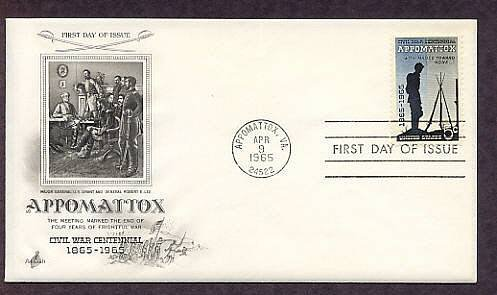 American Civil War Centennial Appomattox Grant Lee First Issue USA