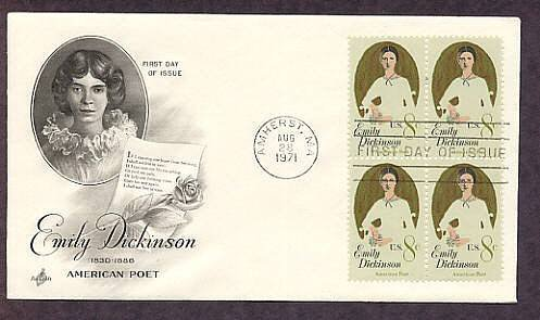 Honoring Emily Dickinson, American Poet, First Day of Issue USA