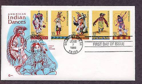 Native American Indian Dances Oklahoma First Issue USA