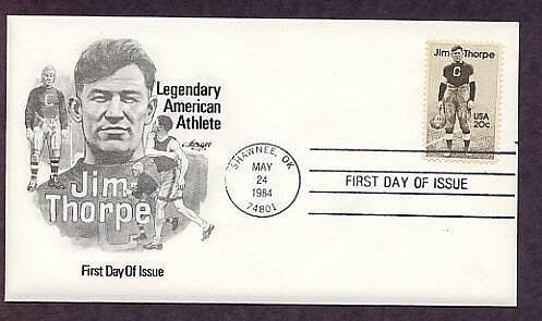 Native American Indian Legend Jim Thorpe First Issue USA