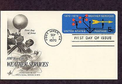Weather Services, Meteorology 100th Anniversary First Issue USA