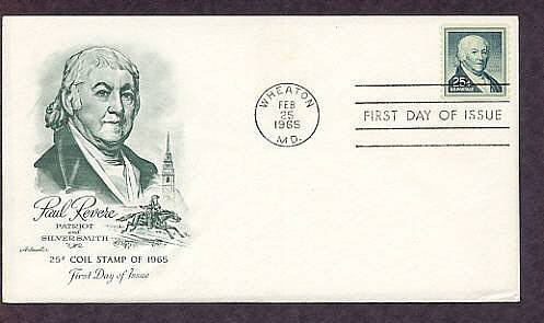 Paul Revere, Patriot and Silversmith, 1965 First Issue USA