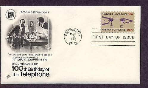 Alexander Graham Bell, Telephone Centennial, First Issue USA