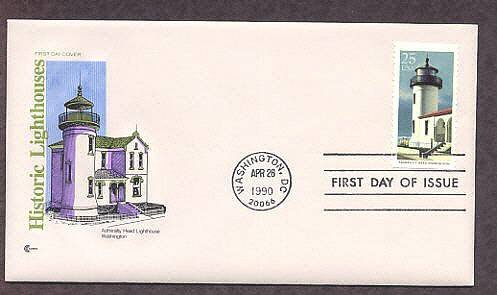 Admiralty Head Lighthouse, Puget Sound, Washington USA FDC