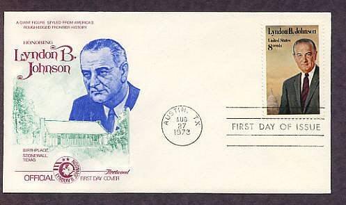 US President Lyndon B. Johnson, Texas, First Issue USA