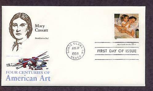 Mary Cassatt, Breakfast in Bed, Art, First Issue USA