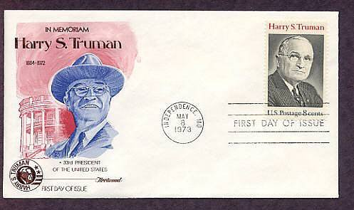 US President Harry S. Truman, In Memoriam, First Issue USA