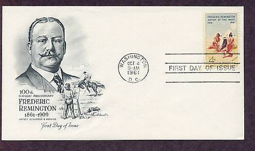 Frederic Remington, American Indian Art, Smoke Signal, First Issue FDC USA