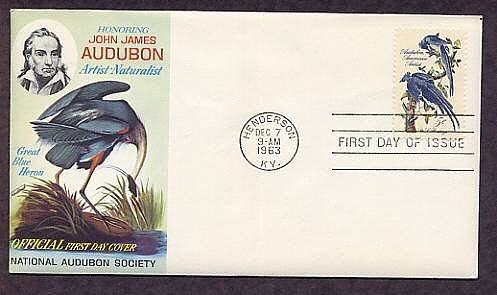 John James Audubon, Birds, Blue Heron, Jays, First Issue USA