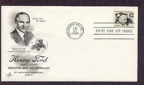 Honoring Henry Ford, Automobile, First Issue USA