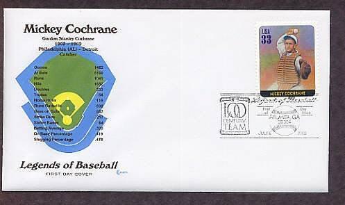 Mickey Cochrane, Baseball Legend, Catcher, First Issue USA