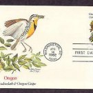 Oregon State Bird Meadowlark, Flower Grape, FW First Issue USA