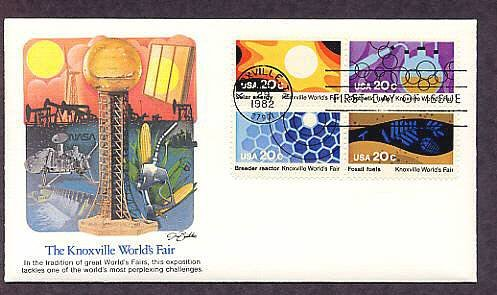Knoxville World's Fair, Energy, Fuels, 1982 First Issue USA