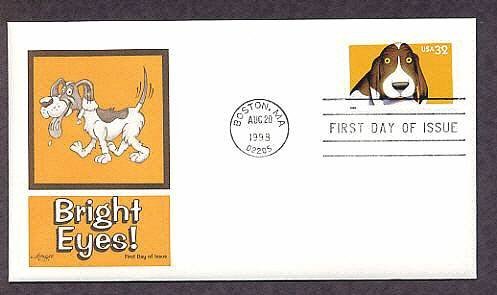 Dogs, Bright Eyes, Popular Pets, Beagle, First Issue USA