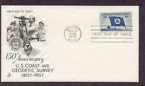 U.S. Coast and Geodetic Survey Anniversary 1957 First Issue USA