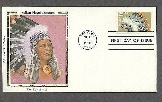 Shoshone Indian Headdress Native American First Issue USA FDC