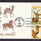 Carousel Animals, Merry Go Round, Folk Art, First Issue Sandusky Ohio USA