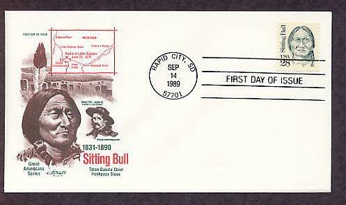 Chief Sitting Bull Lakota Sioux Indian Chief  Western Native American First Issue USA FDC