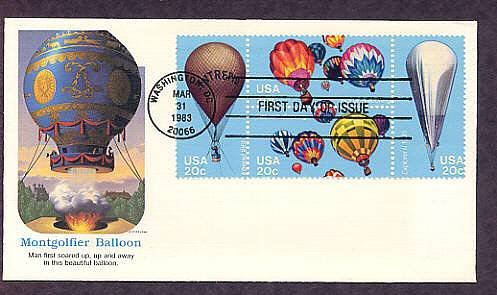 Hot Air Balloons, Ballooning, Civil War Intrepid, Explorer II, First Issue USA