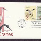 Whooping and Ringed-Necked Cranes, Birds, First Issue USA