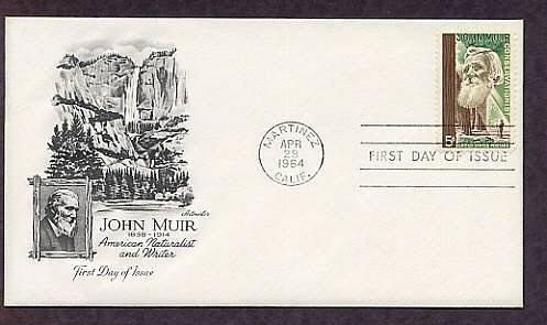 John Muir, Giant Sequoia Trees, Conservation, AM First Issue USA