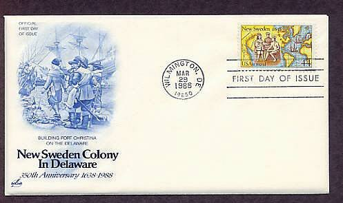 New Sweden Colony, Delaware, First Issue USA