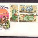 Desert Cactus Plants of Arizona, Saguaro, Beavertail, Barrel, Agave, First Issue Tucson USA
