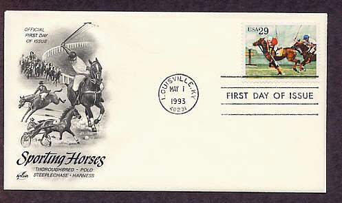 Sporting Horses, Polo Ponies, Louisville, Kentucky, First Issue USA