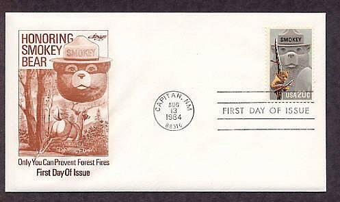 Smokey the Bear, Prevent Forest Fires, AM First Issue FDC USA