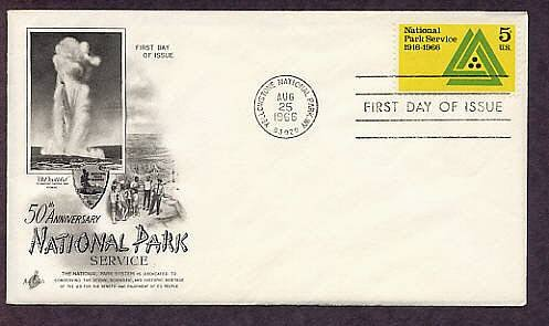 National Park Service, Yellowstone National Park, First Issue USA