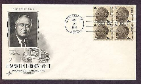 President Franklin Delano Roosevelt FDR Hyde Park, New York First Issue USA