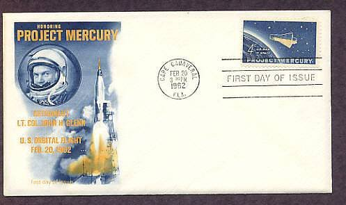NASA Project Mercury, Space, John Glenn Astronaut, Cape Canaveral, First Issue USA