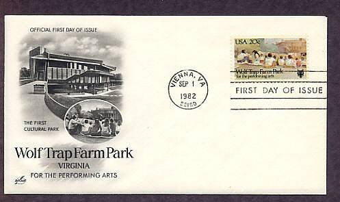Wolf Trap Farm National Park for the Performing Arts, Vienna, Virginia, First Issue USA