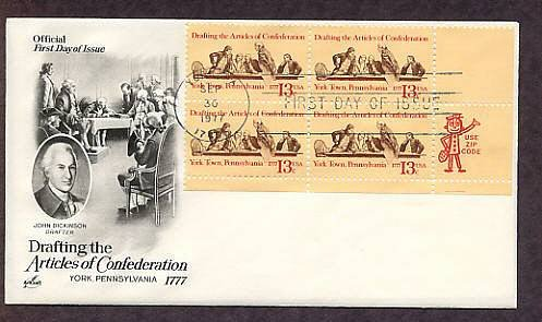Bicentennial Drafting the Articles of Confederation, First Issue USA