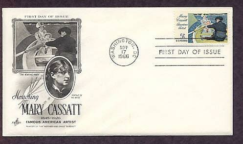 Honoring Artist Mary Cassatt, The Boating Party, First Issue USA