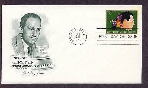 Honoring American Composer George Gershwin, AM, First Issue USA