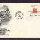 Lumber Company Railroad Caboose 1890s, Steam Locomotive First Issue USA