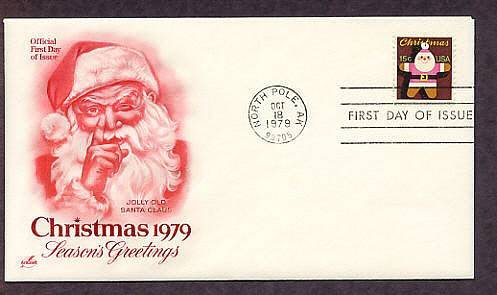 USPS Christmas Stamp, 1979, Gingerbread Santa Claus Ornament, First Issue USA