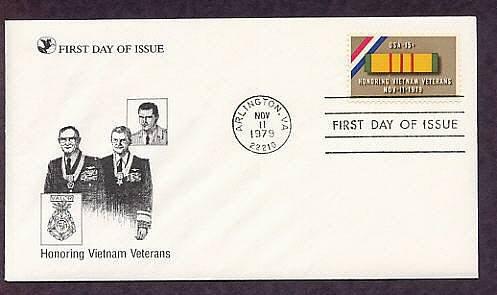 Honoring Vietnam Veterans, Arlington, Virginia, Veterans Day, First Issue USA