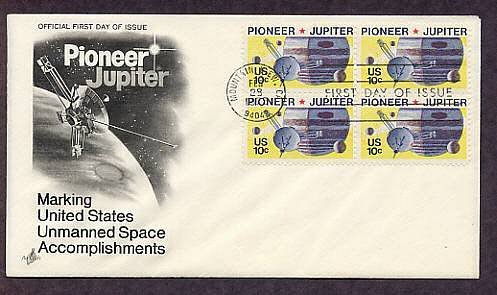 NASA Pioneer 10 Exploration of Space Mission to Jupiter, First Issue USA