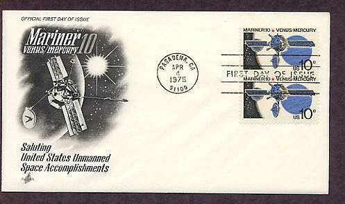 NASA Mariner 10 Exploration of Space Mission to Venus and Mercury First Issue USA