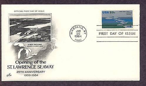 Opening of the Saint Lawrence Seaway, Great Lakes, First Issue USA