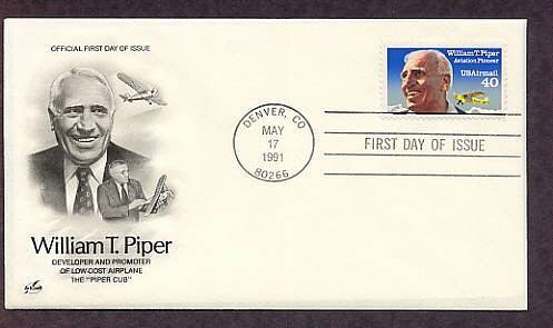 William T. Piper Cub Airplane, Aviation, First Issue USA