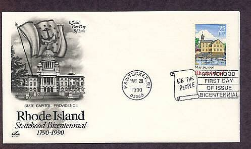 Rhode Island Statehood Bicentennial, First Issue USA