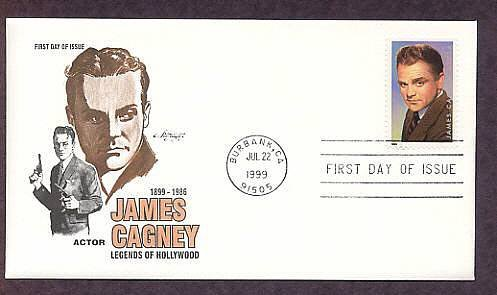 Honoring Academy Award Winner Movie Actor James Cagney, First Issue USA