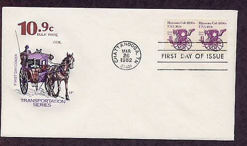 Horse Drawn Hansom Cab 1890s First Issue USA