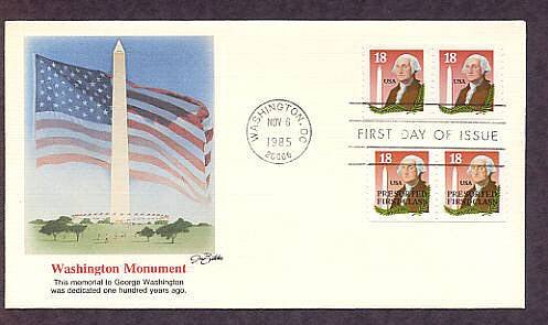 Washington Monument, George Washington, First Issue USA