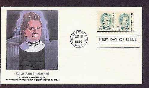Belva Ann Lockwood, Women's Rights Pioneer, First Women to Practice Law in the U.S. First Issue