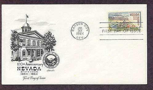 100th Anniversary Nevada Statehood, Carson City, First Issue USA